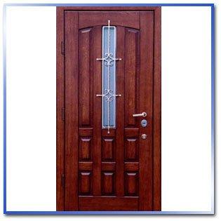 Двери металлические остеклённые